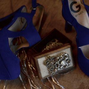 """⚡️SALE⚡️ Cobalt Blue """"Vonia"""" Strappy Heels"""